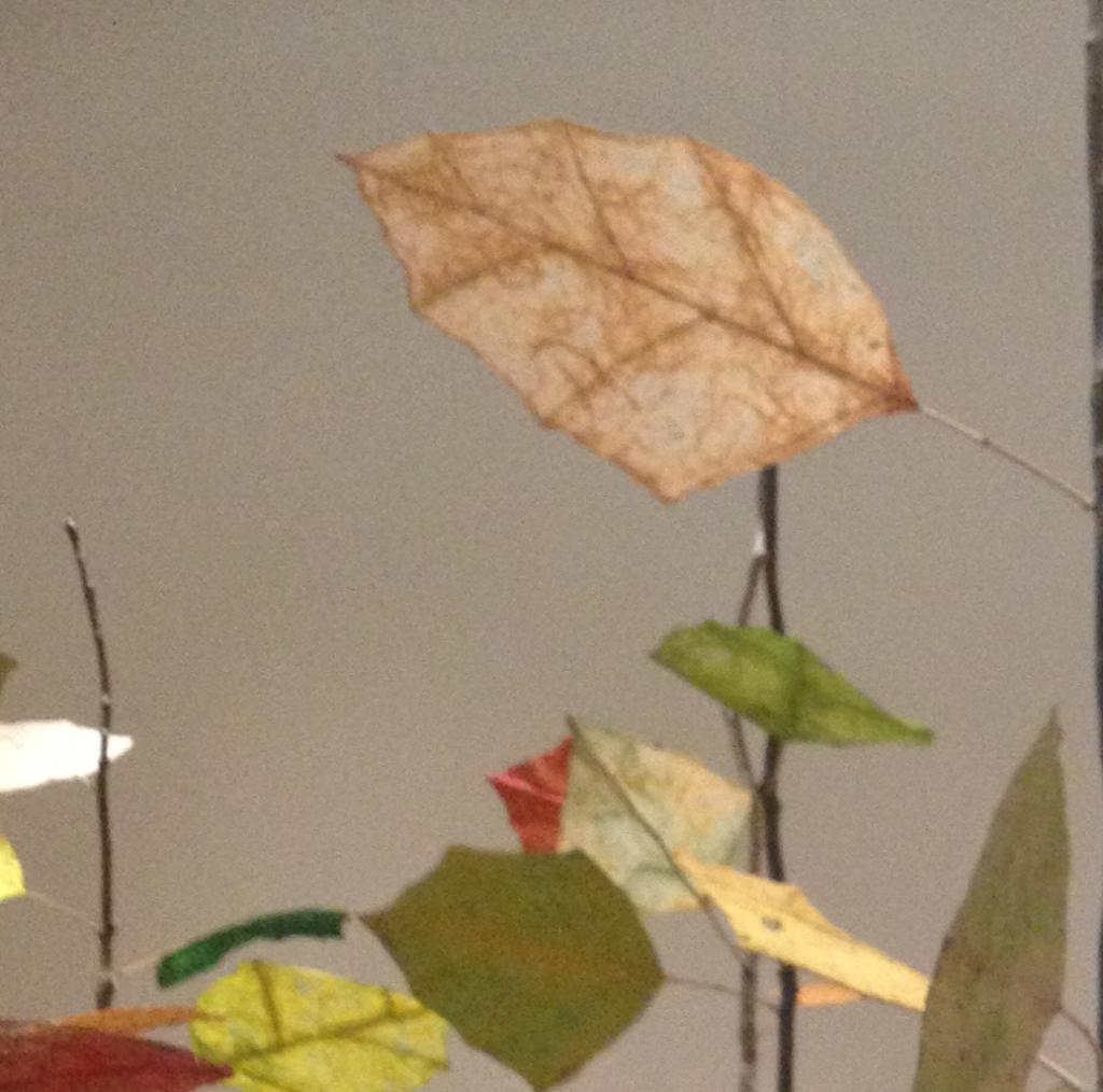 paper art yellow leaf