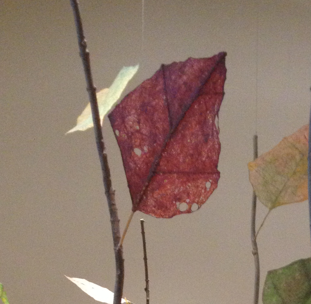 paper art red leaf